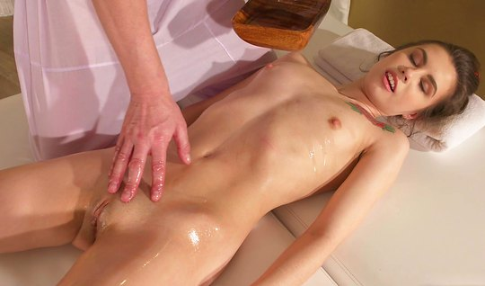Masseur and oily girl